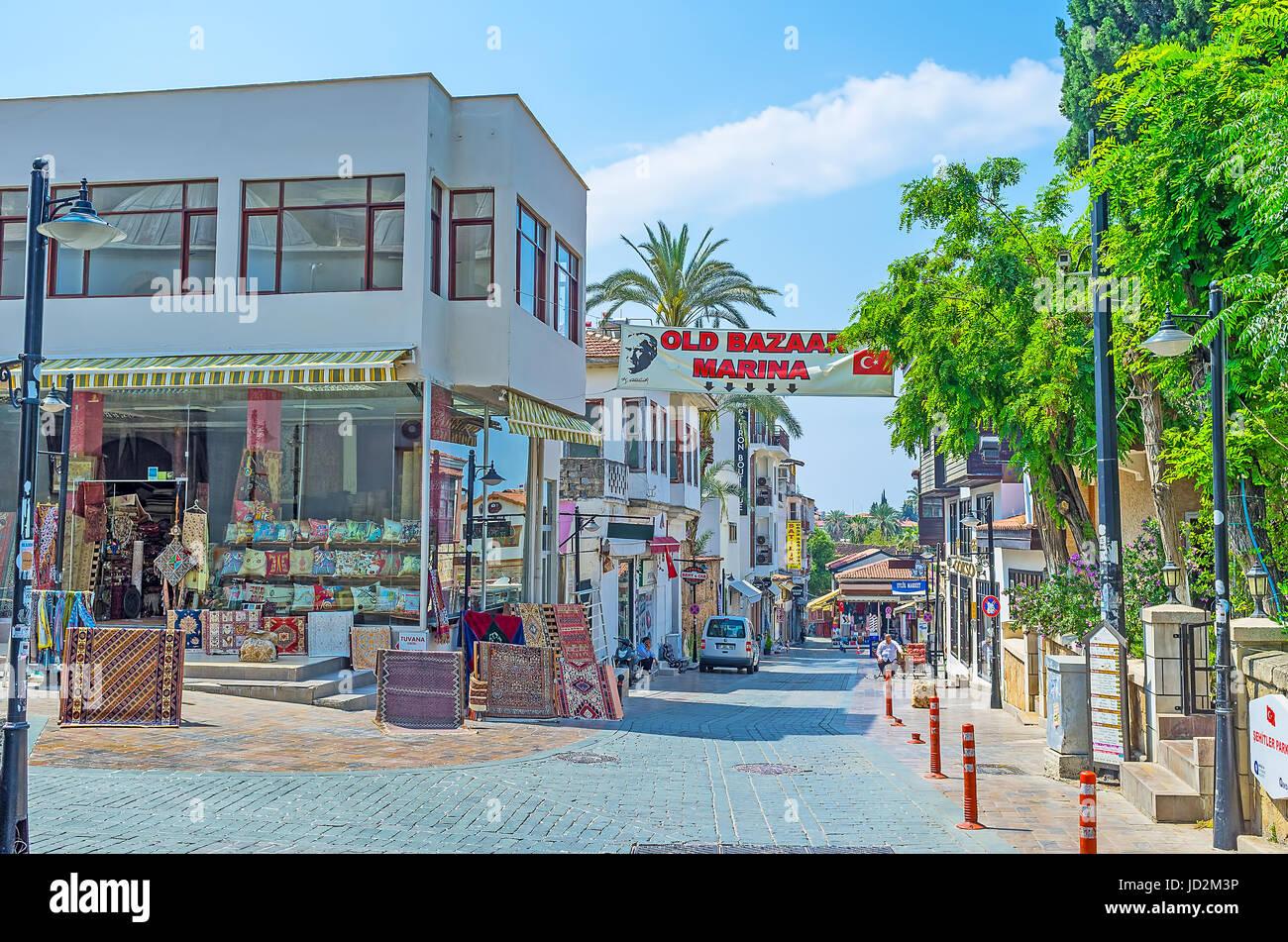 Street Bazaar In Antalya Turkey Stock Photos Amp Street