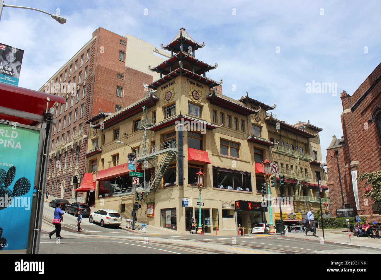 Sing Chong Building, Chinatown, San Francisco, California - Stock Image