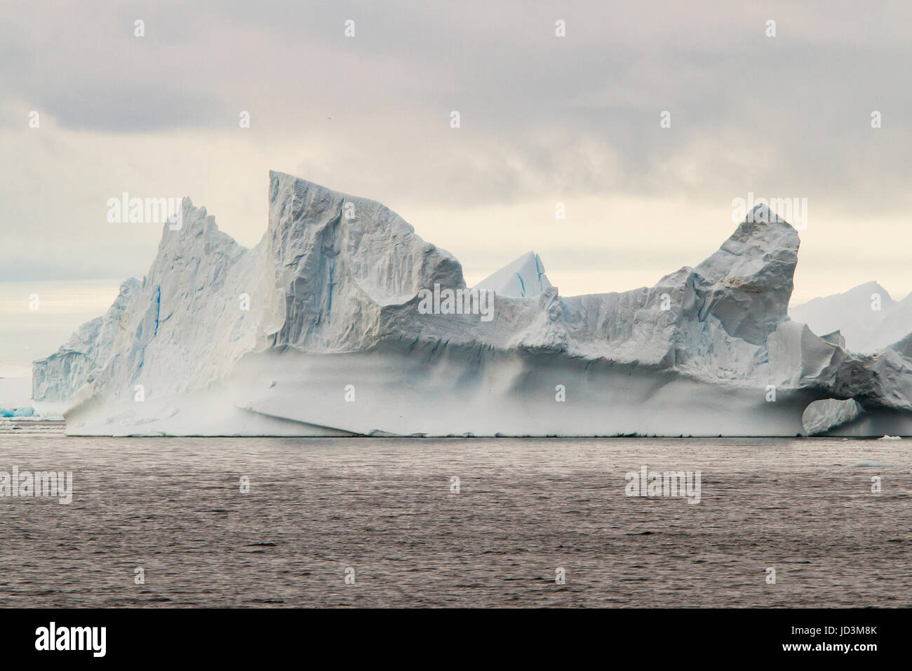 Antarctica landscape with blue ice iceberg, ice berg, icebergs. - Stock Image