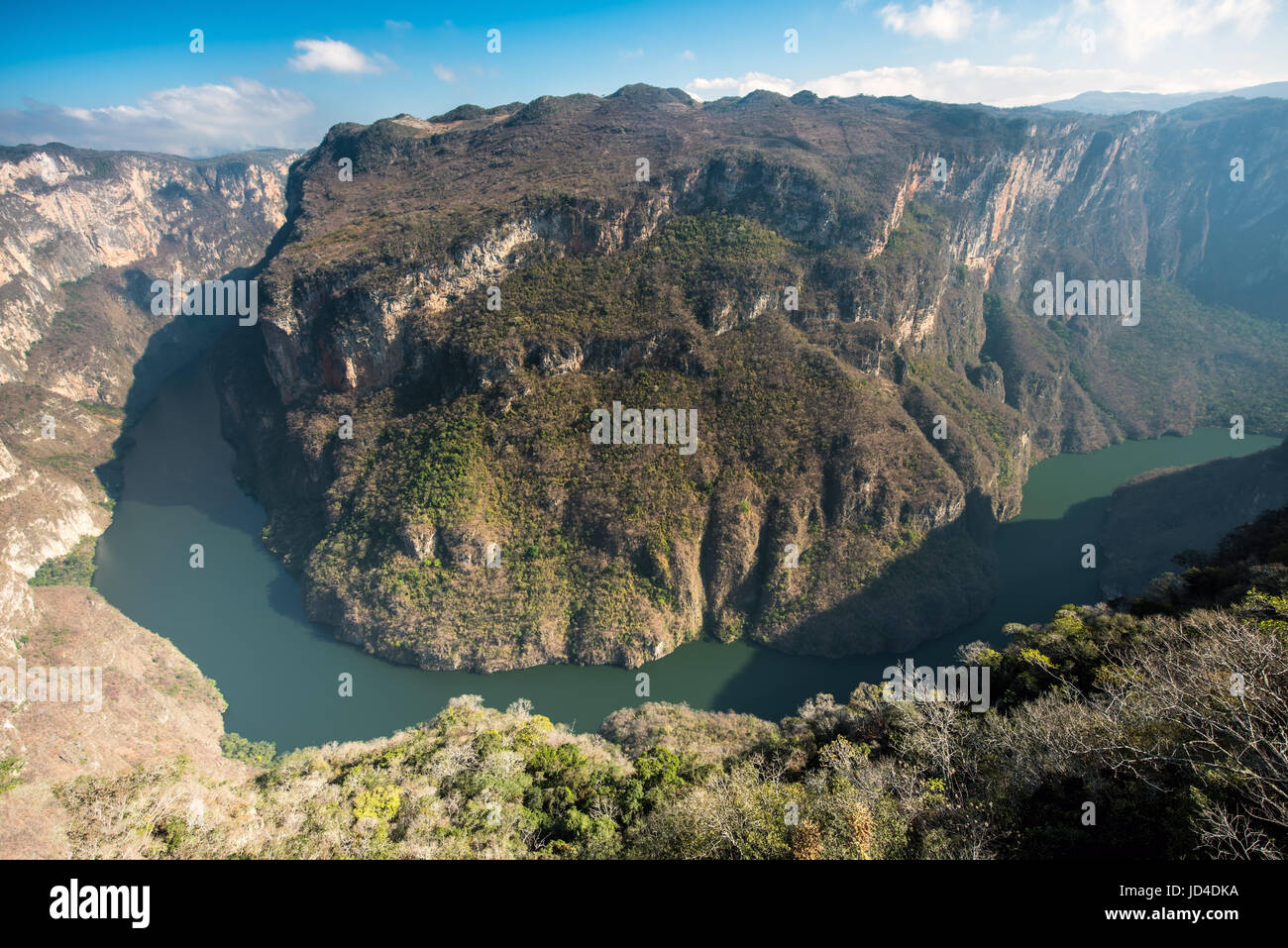 View from above the Sumidero Canyon - Chiapas, Mexico - Stock Image