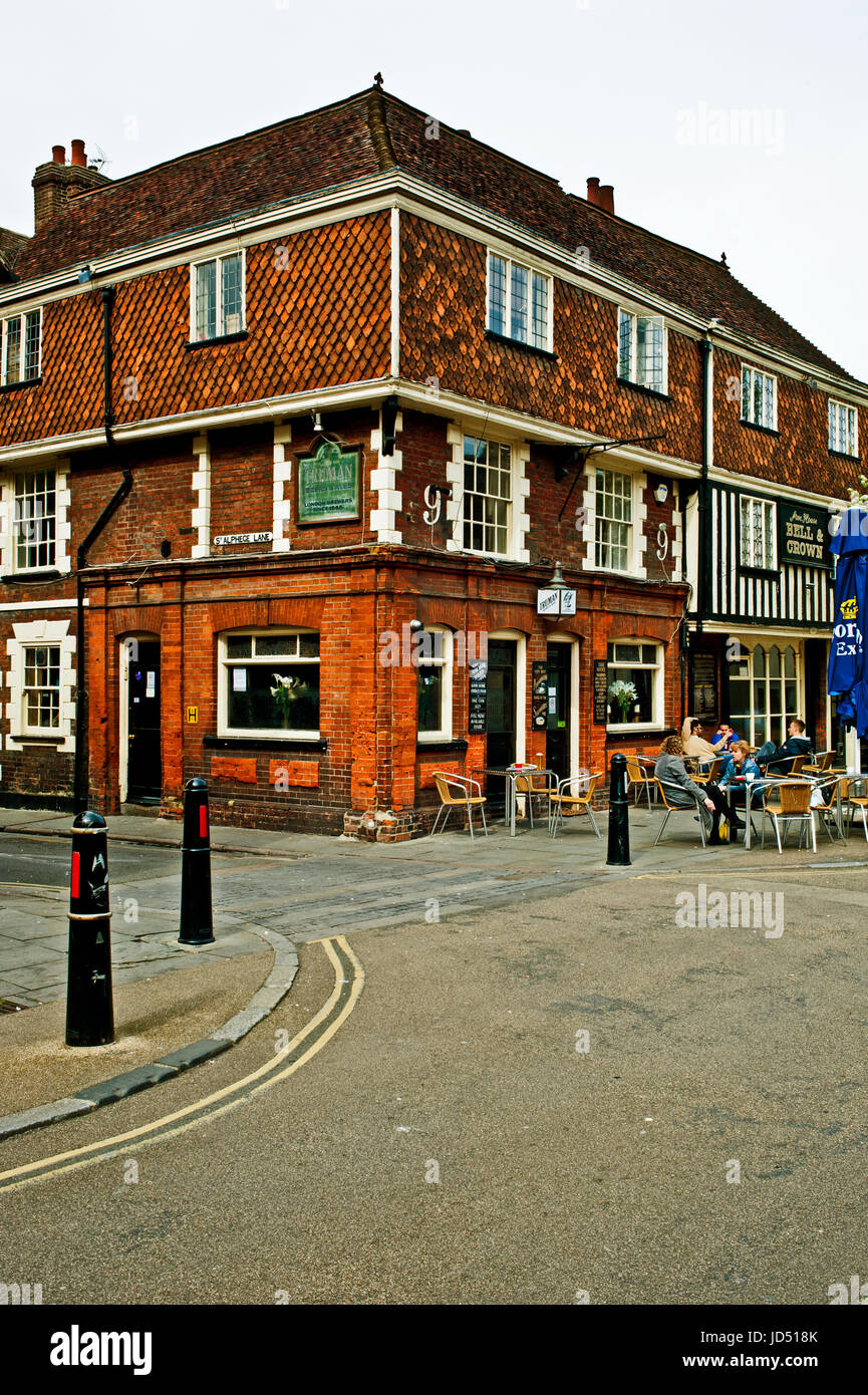 The Bell and Crown, st Alphege Lane, Canterbury - Stock Image