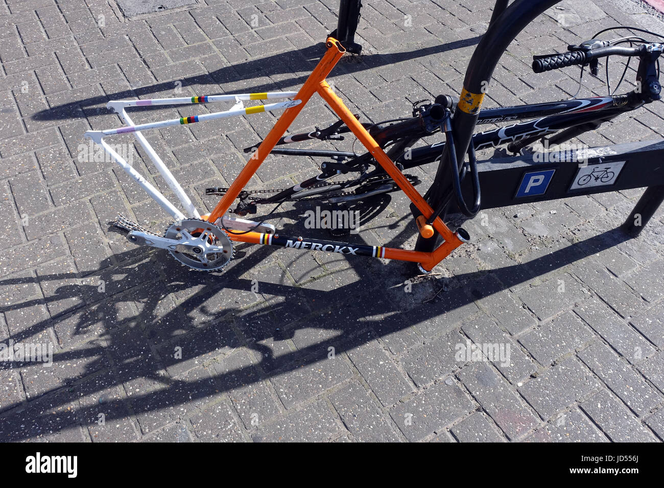 Bicycles Stripped Of Parts In South London Stock Photo 145787338