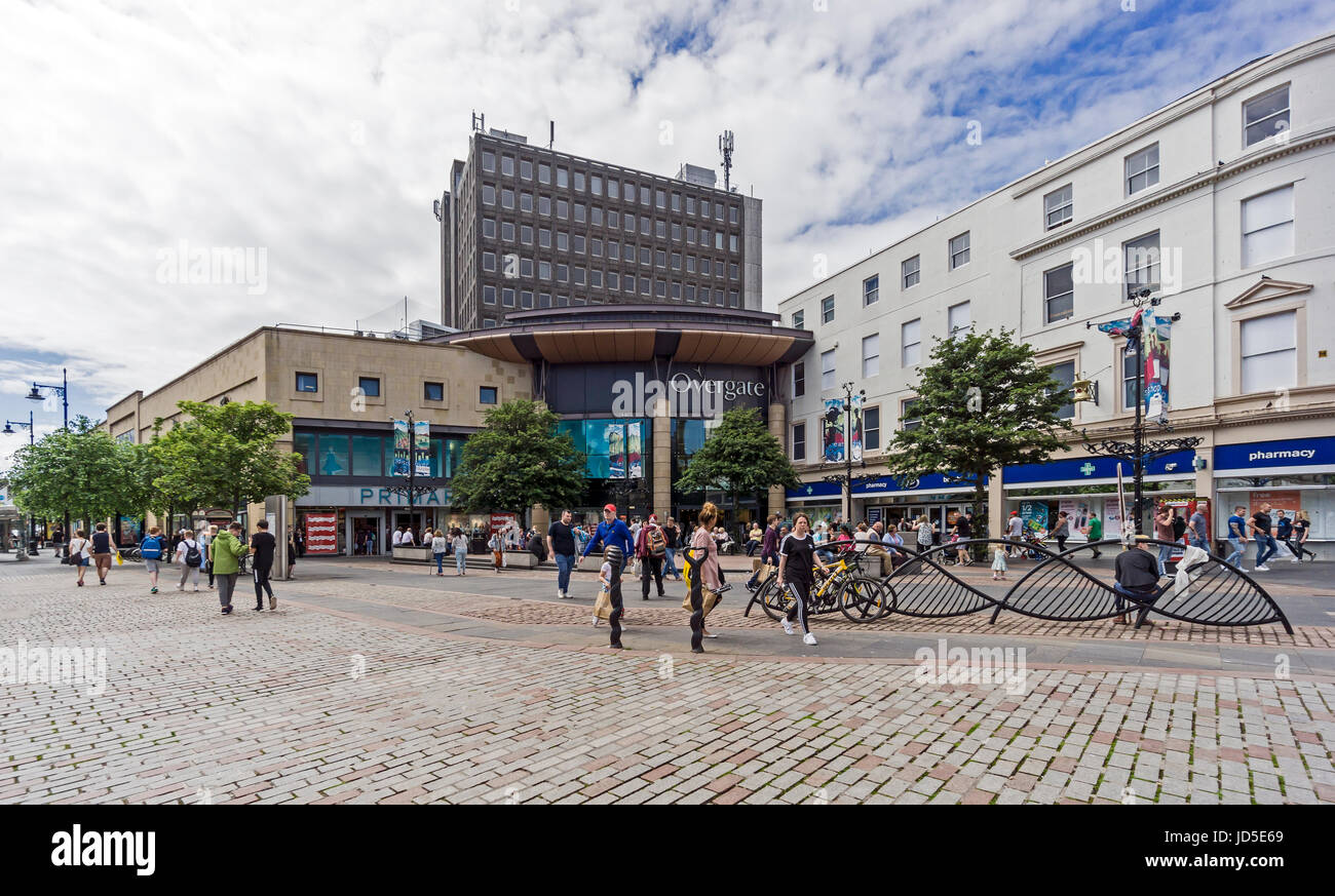 Overgate Shopping Centre entrance at High Street opposite City Square in Dundee Tayside Scotland UK - Stock Image