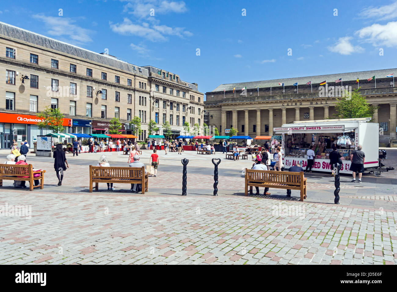 Market at City Square in Dundee Tayside Scotland UK - Stock Image