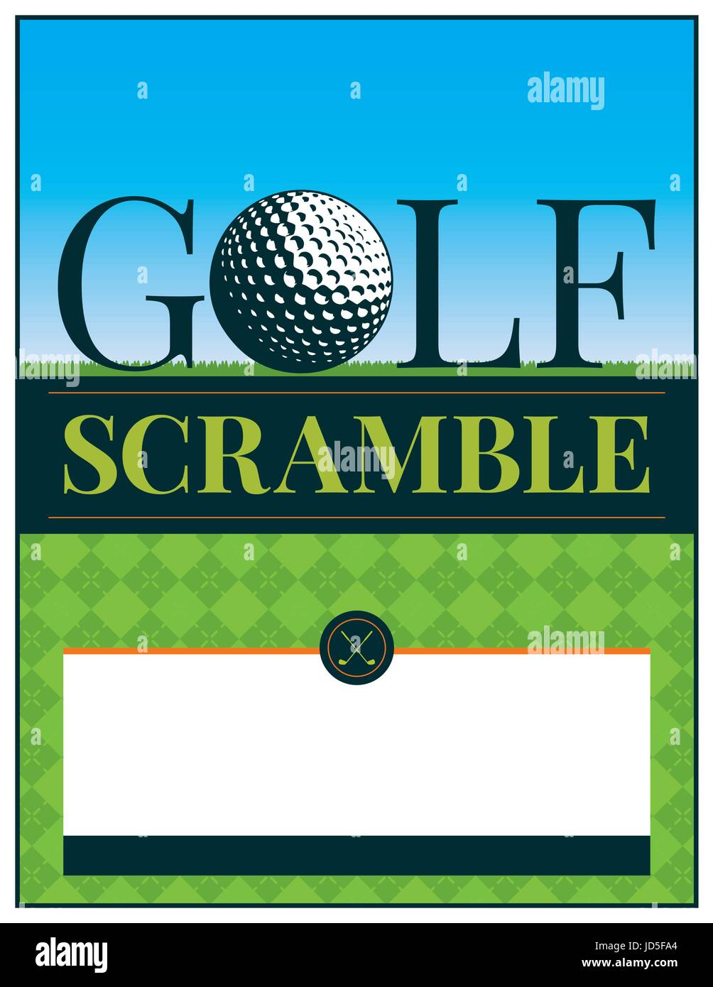 A golf tournament scramble flyer and invitation illustration. Vector EPS 10 available. Type has been converted to - Stock Vector