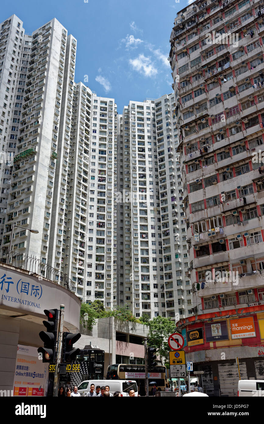 The crowded accommodation of Hong Kong Stock Photo