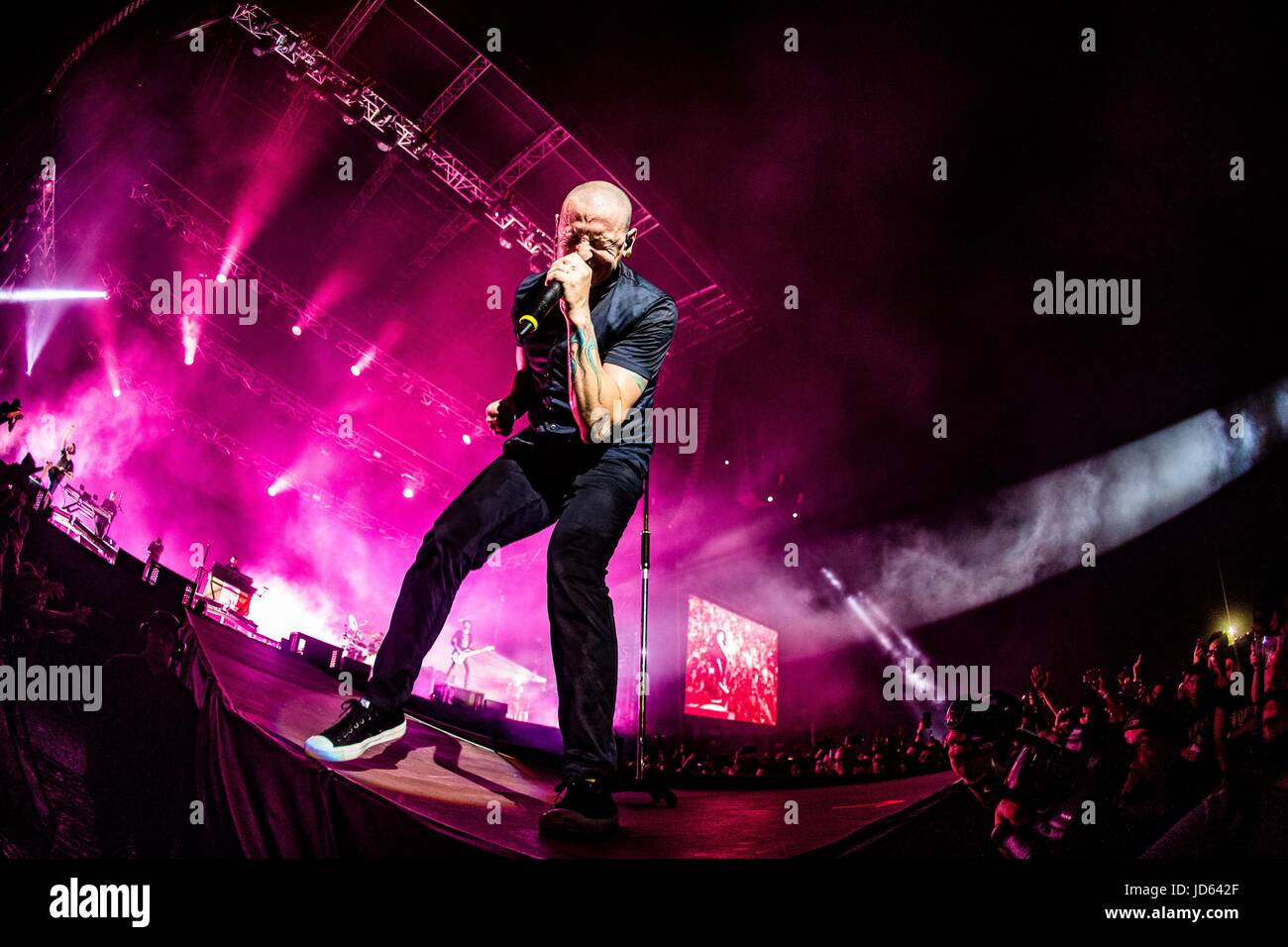 Monza, Italy  17th June, 2017  Linkin Park performs live at
