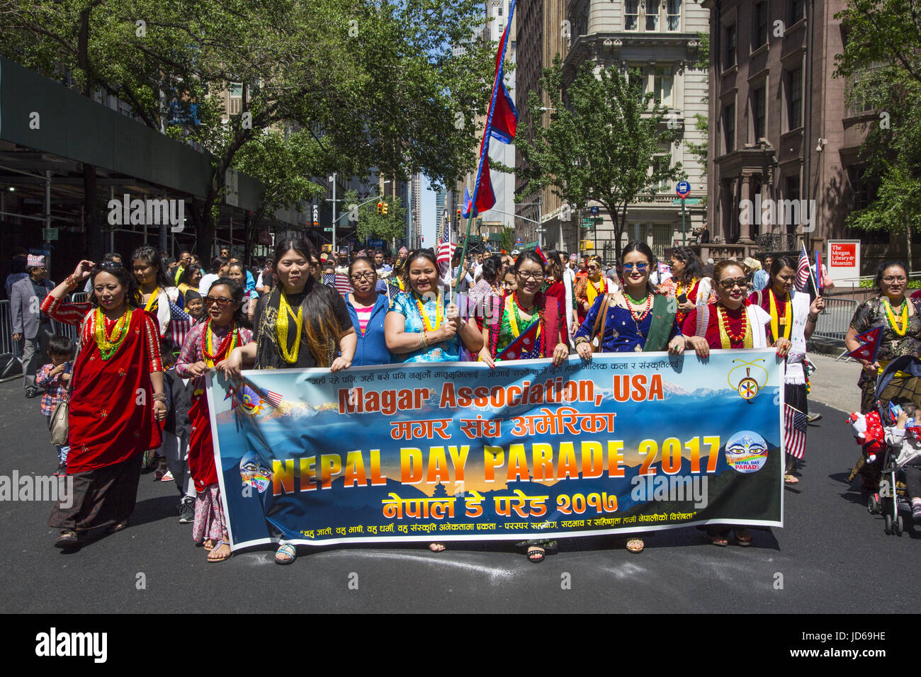 The Nepal Day Parade is an expression of the Nepalese Diaspora in the New York City area. - Stock Image