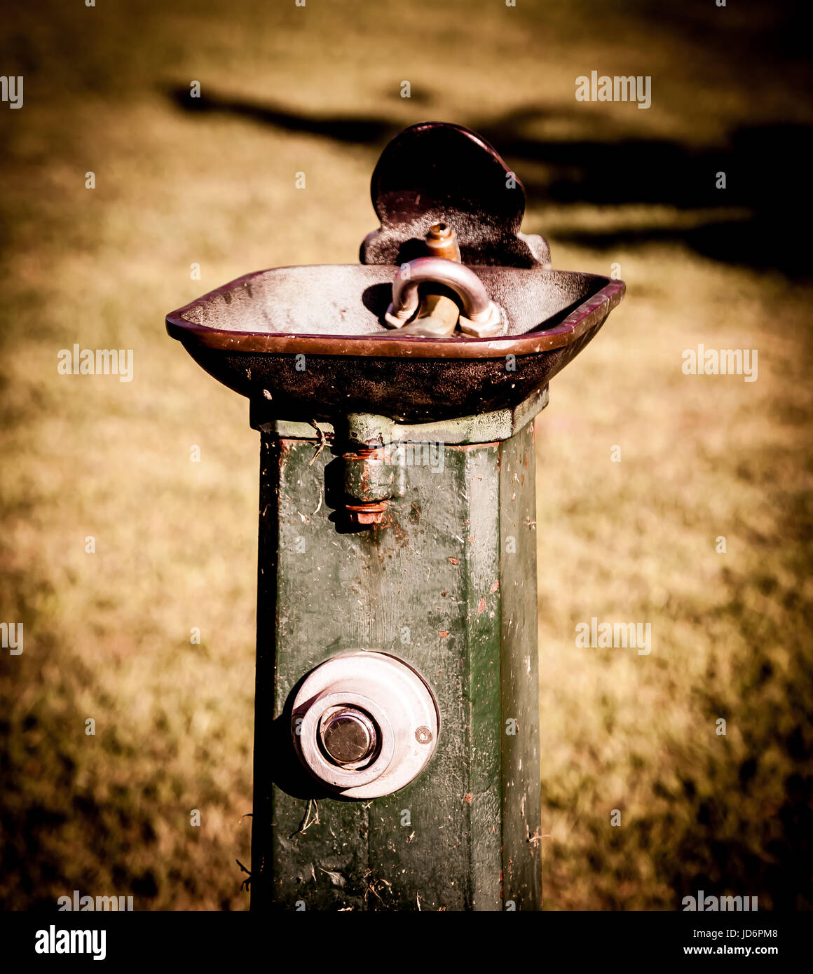 Water fountain. Old Water Fountain. Parks. Public parks. Rusty - Stock Image