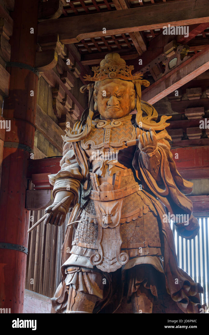 Komokuten, one of the pair of guardians in the Daibutsuden, Tōdai-ji Eastern Great Temple Stock Photo