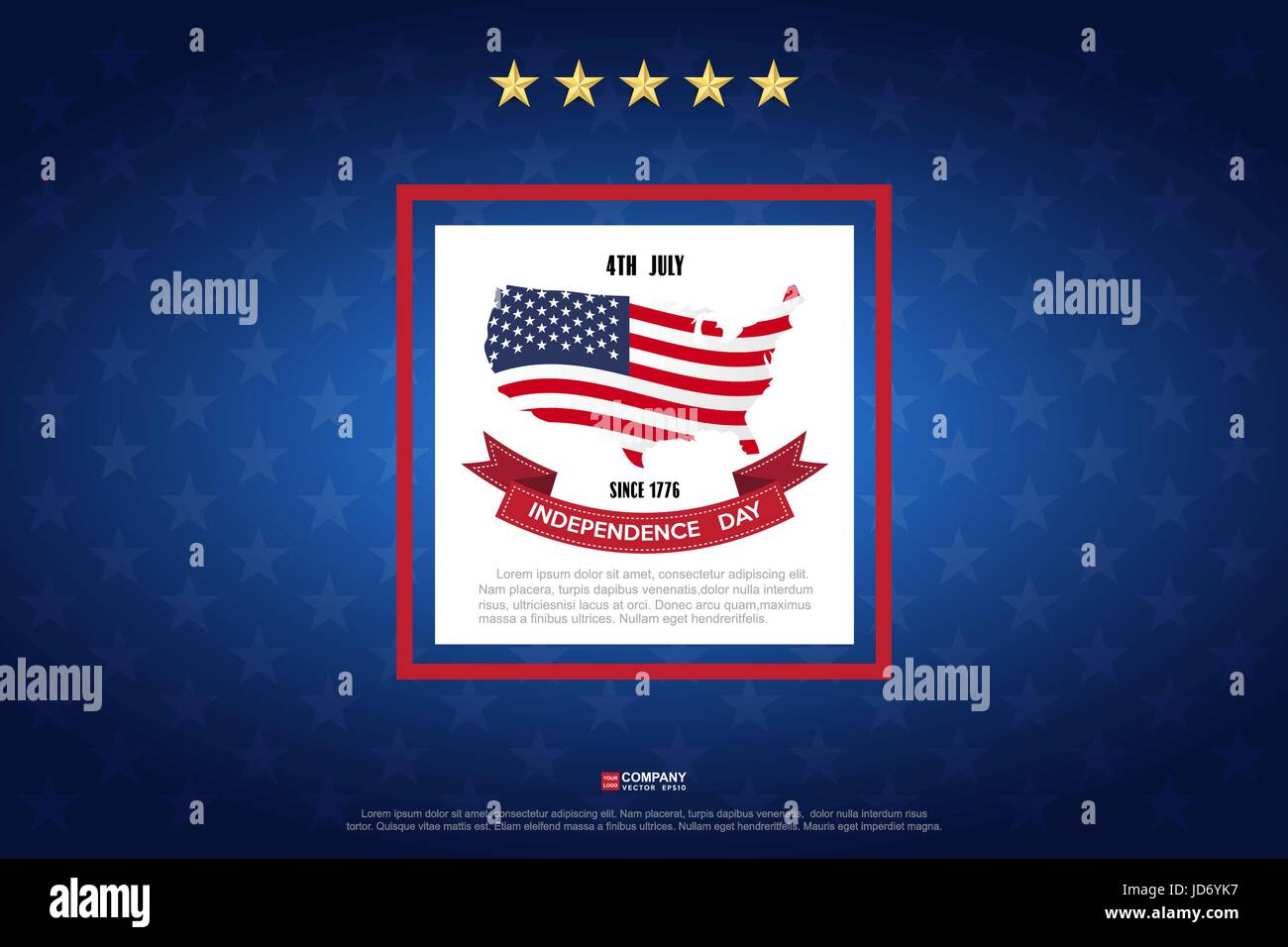 Independence day design element, Vector eps10 - Stock Image
