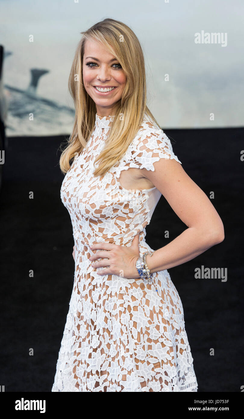 London, UK. 18 June 2017. Liz McClarnon arrives for the global premiere of Transformers: The Last Knight at Leicester - Stock Image
