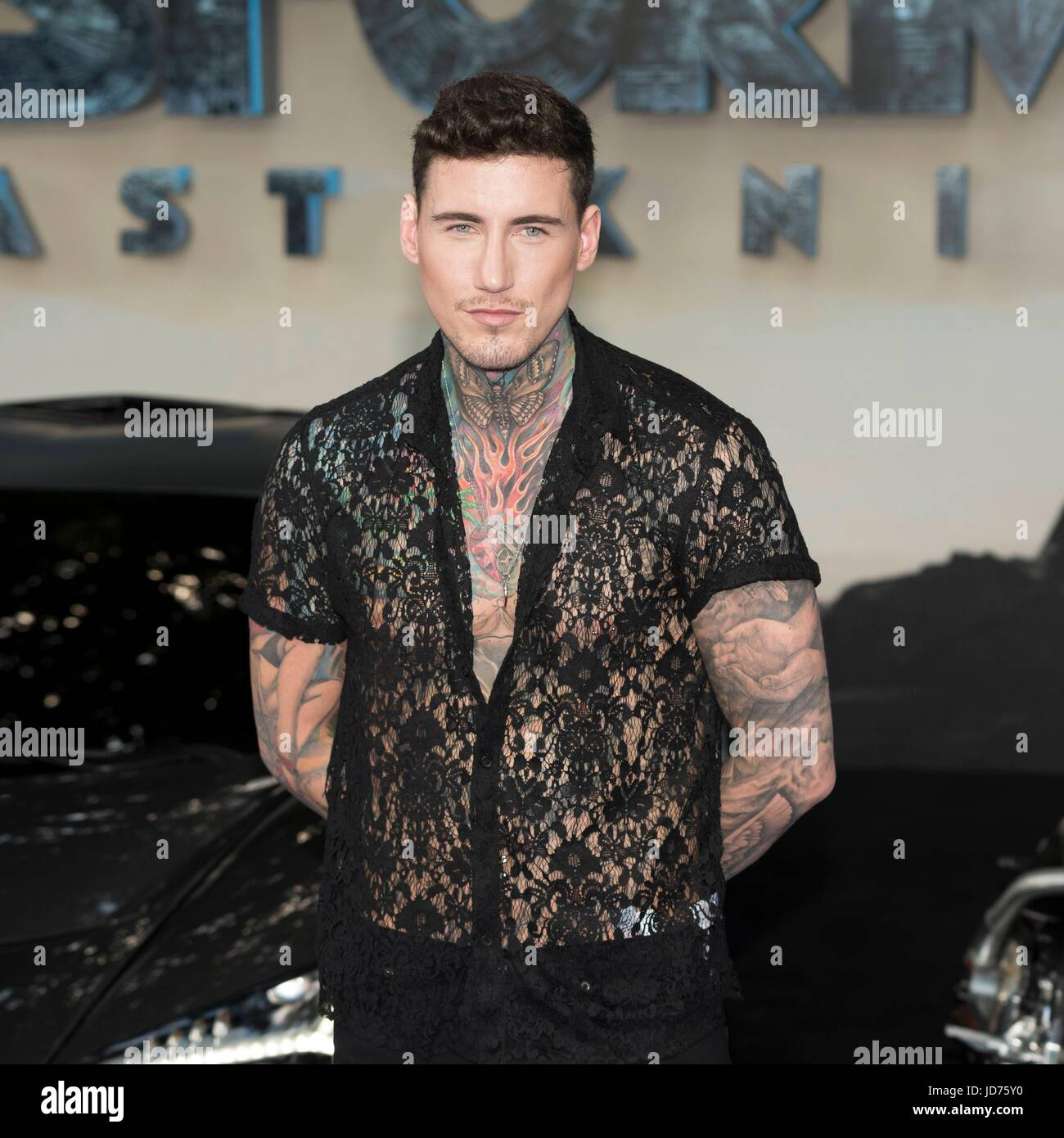 London, UK. 18th June, 2017. Jeremy McConnell attends the Global Premiere of TRANSFORMERS: The last Knight. London, Stock Photo