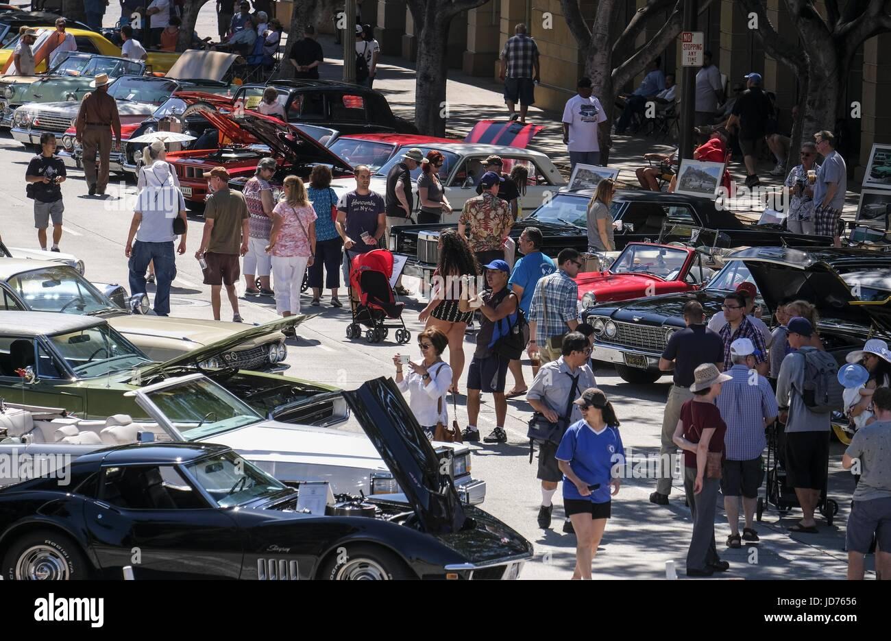 Los Angeles California USA Th June Pasadena Police Th - Pasadena car show
