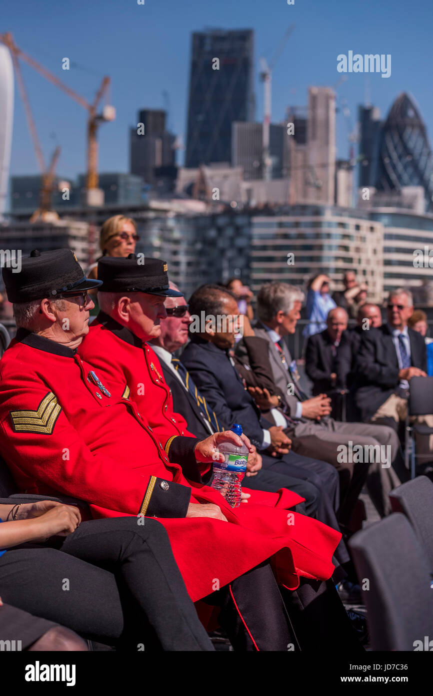 London, UK. 19th June, 2017. Chelsea Pensioners attend - On behalf of the Mayor Sadiq Khan (who was called to a - Stock Image