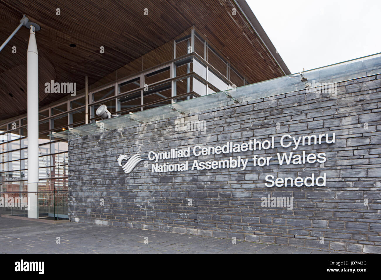 The National  Assembly for Wales, building, Cardiff, Wales, U.K. - Stock Image