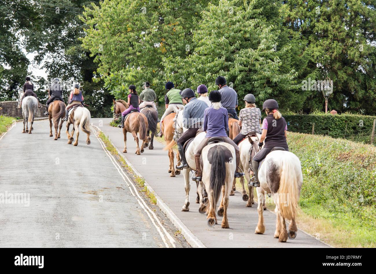Horse riding, England, UK - Stock Image