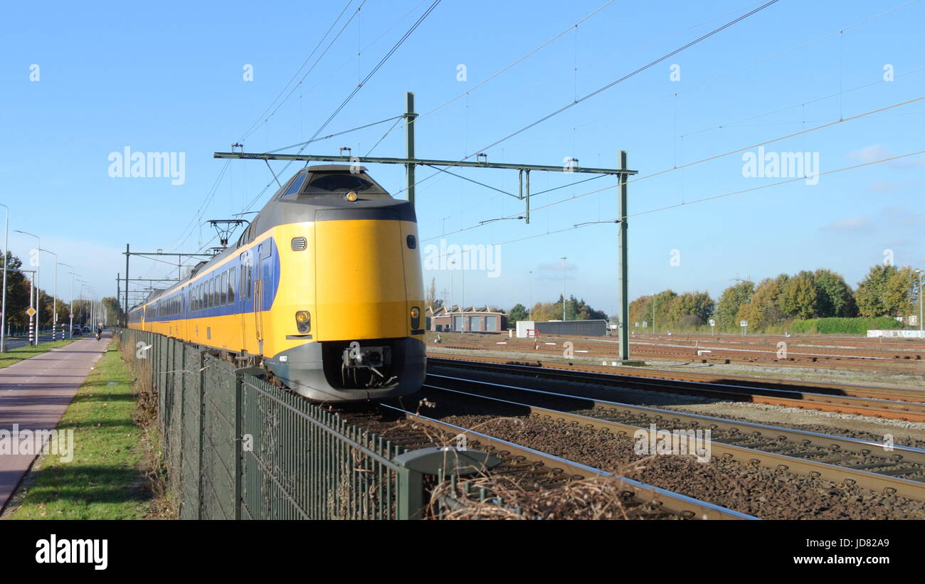 Dutch Koploper (ICM) train at Blerick, on the outskirts of Venlo, Netherlands - Stock Image