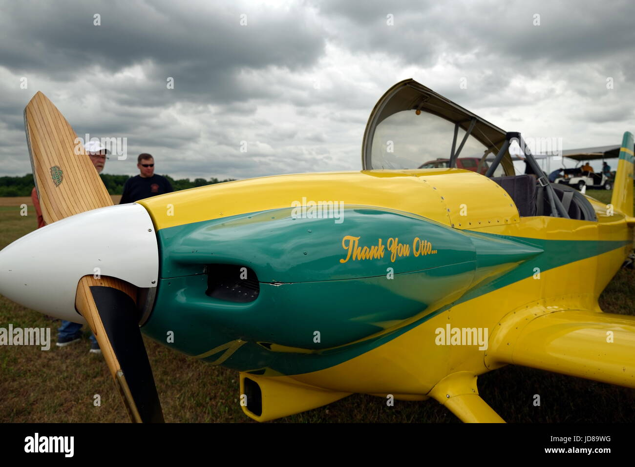 1987 Zauner Otto RV-4 fixed wing experimental kit built aircraft.  Seats two. - Stock Image