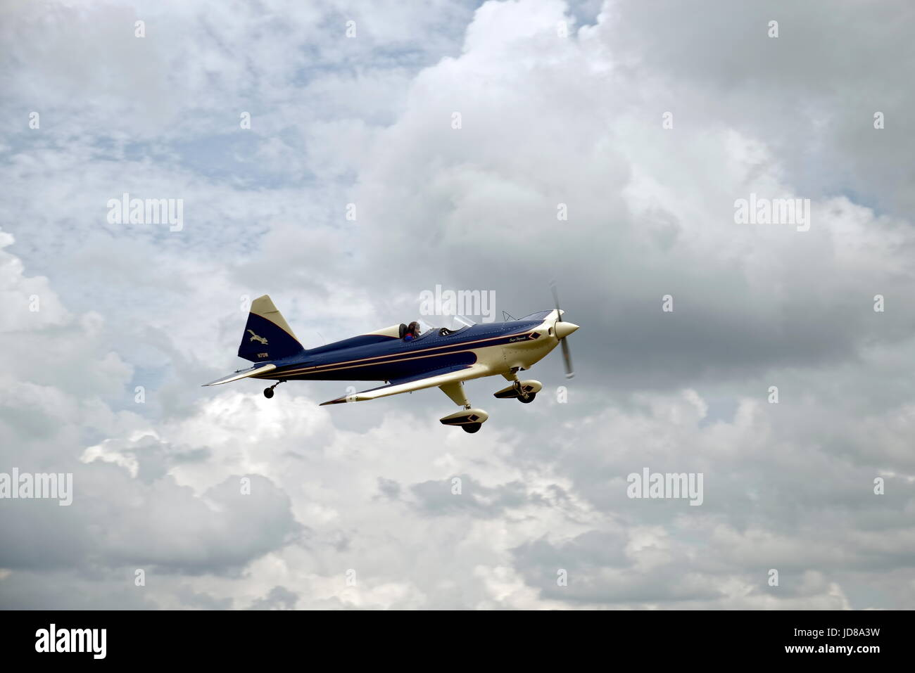 Dehavilland DHC-1 Super Chipmunk. Originally designed as a primary trainer aircraft, it is also capable of aerobatic - Stock Image