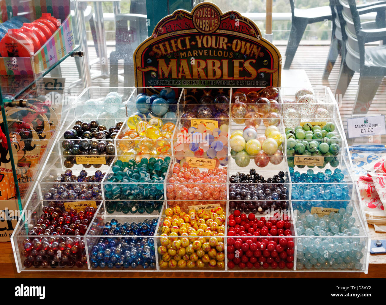 A selection of marbles - Stock Image
