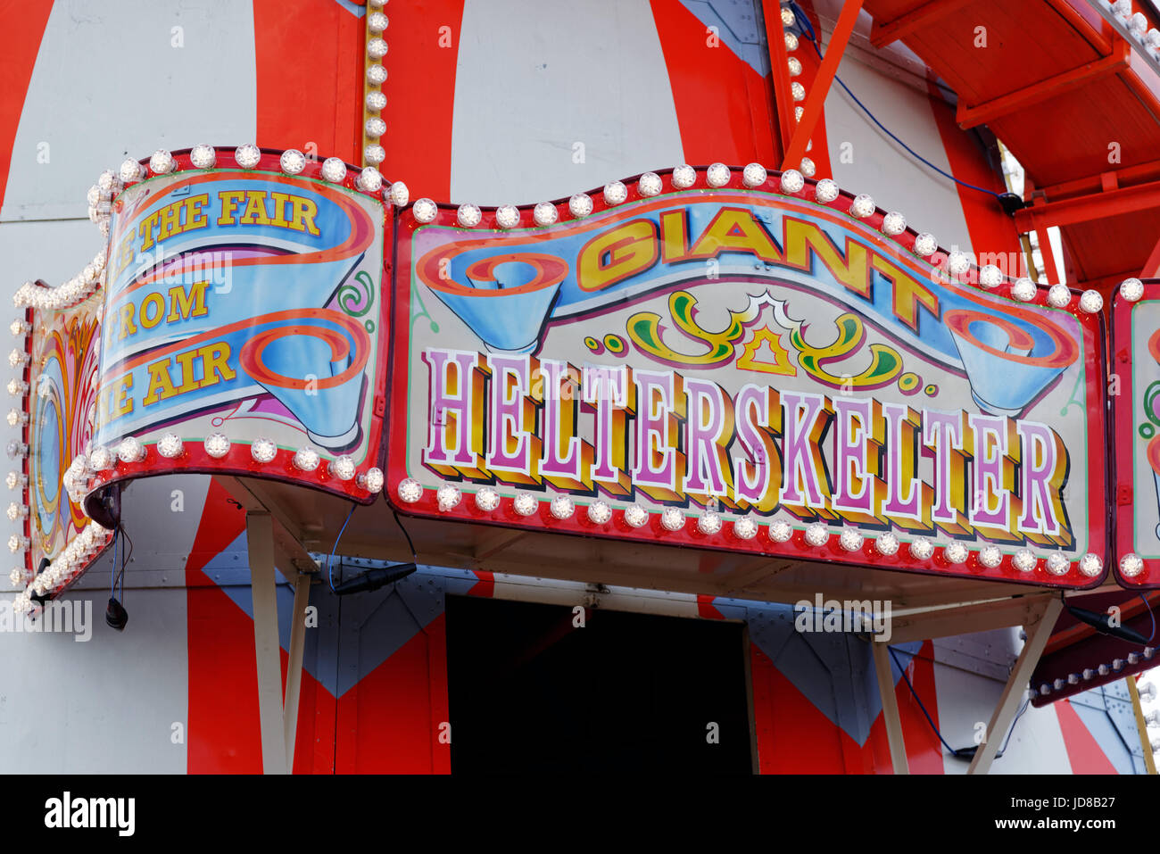 A traditional Helter Skelter on Clacton Pier in Essex, England - Stock Image