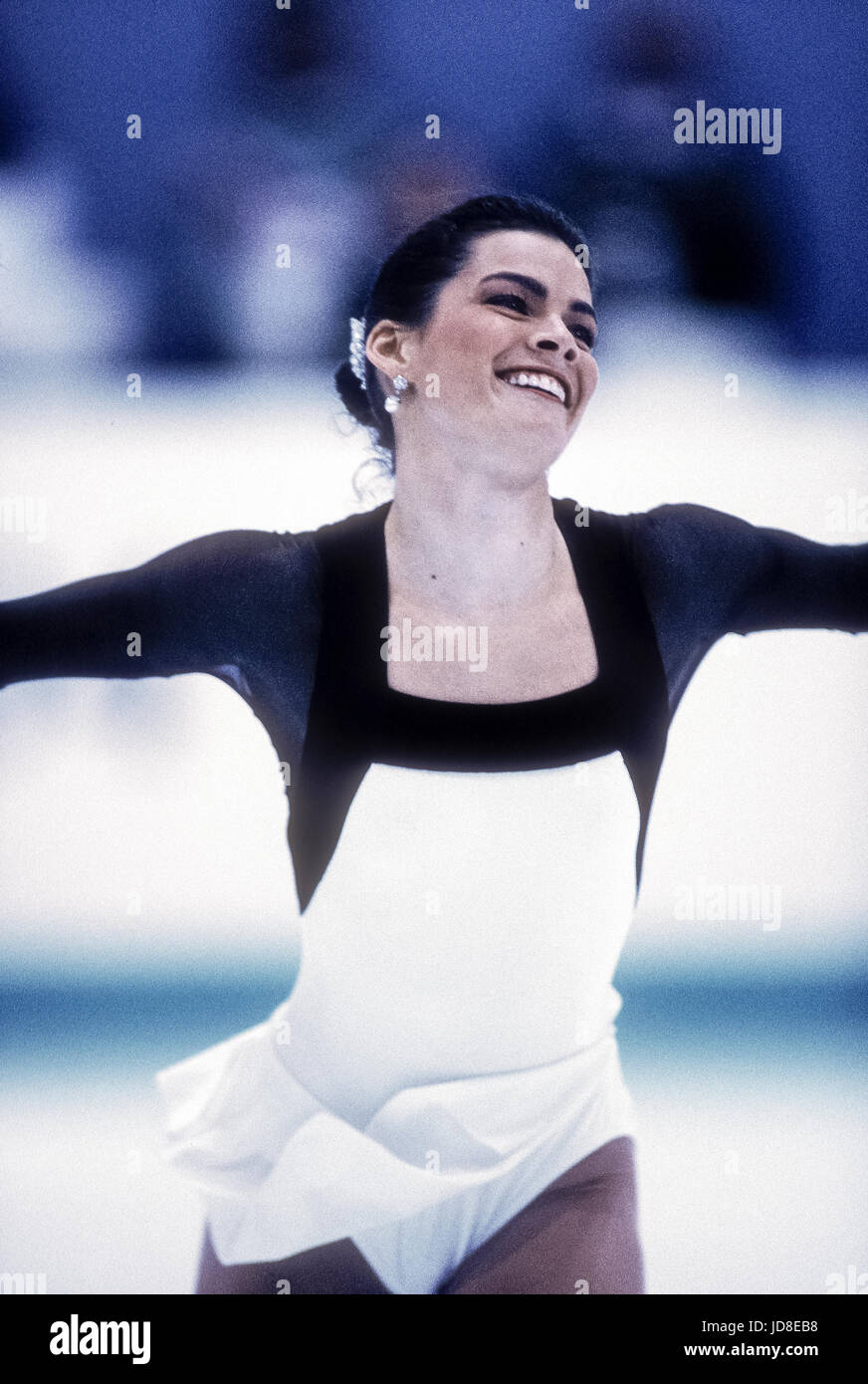 Nancy Kerrigan (USA), silver medalist competing at the 1994 Olympic Winter Games - Stock Image