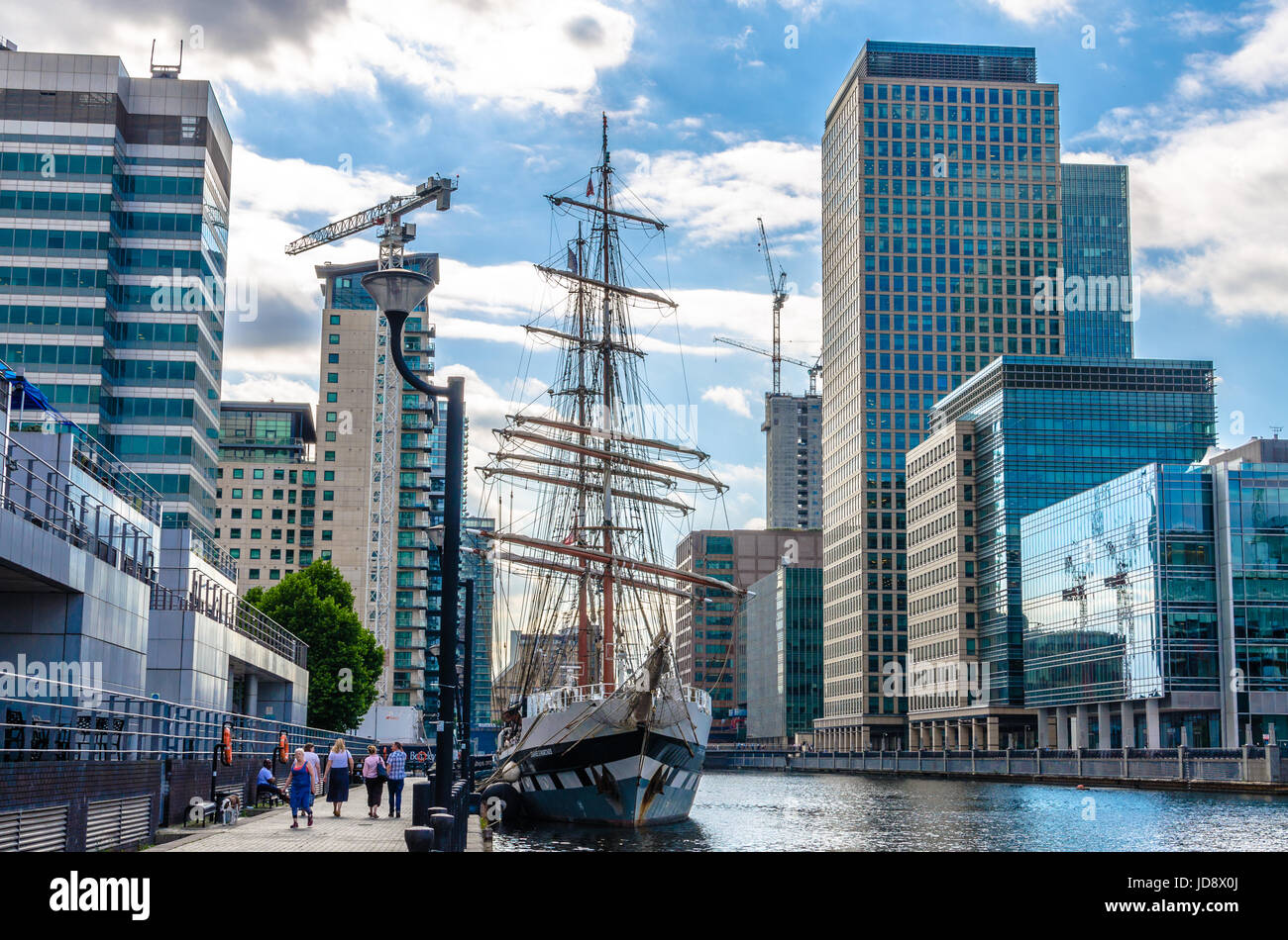 Stavros S Niarchos at South Quay in Canary Wharf, London - Stock Image
