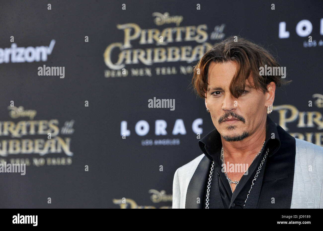 Premiere Pirates of The Caribbean Dead Men Tell No Tales Featuring: Johnny Depp Where: Los Angeles, California, - Stock Image