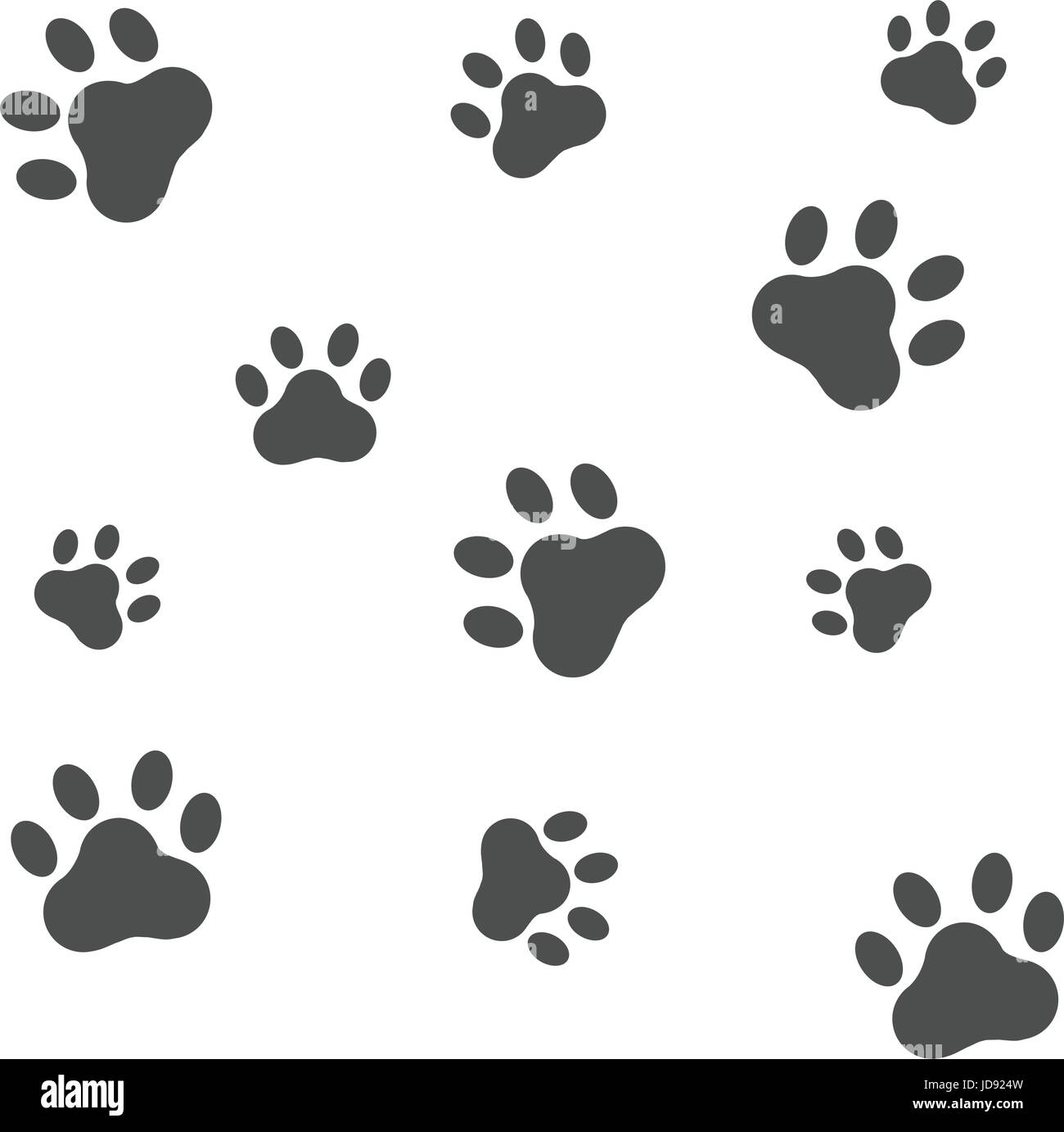 89b8a673c8c4 Dog footprint icon isolated on white background; Paws vector illustration -  Stock Image