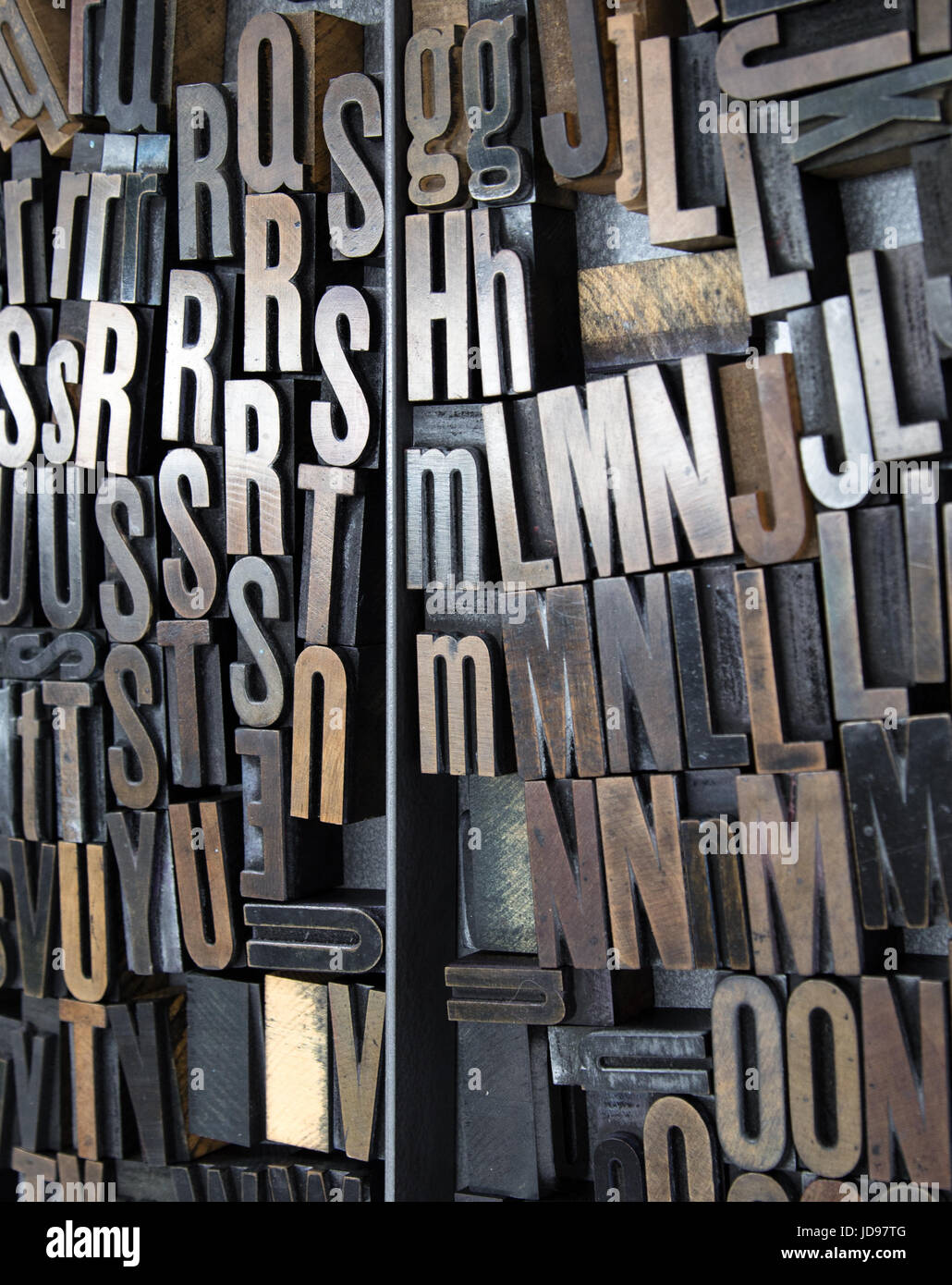Letters for type setting - Stock Image