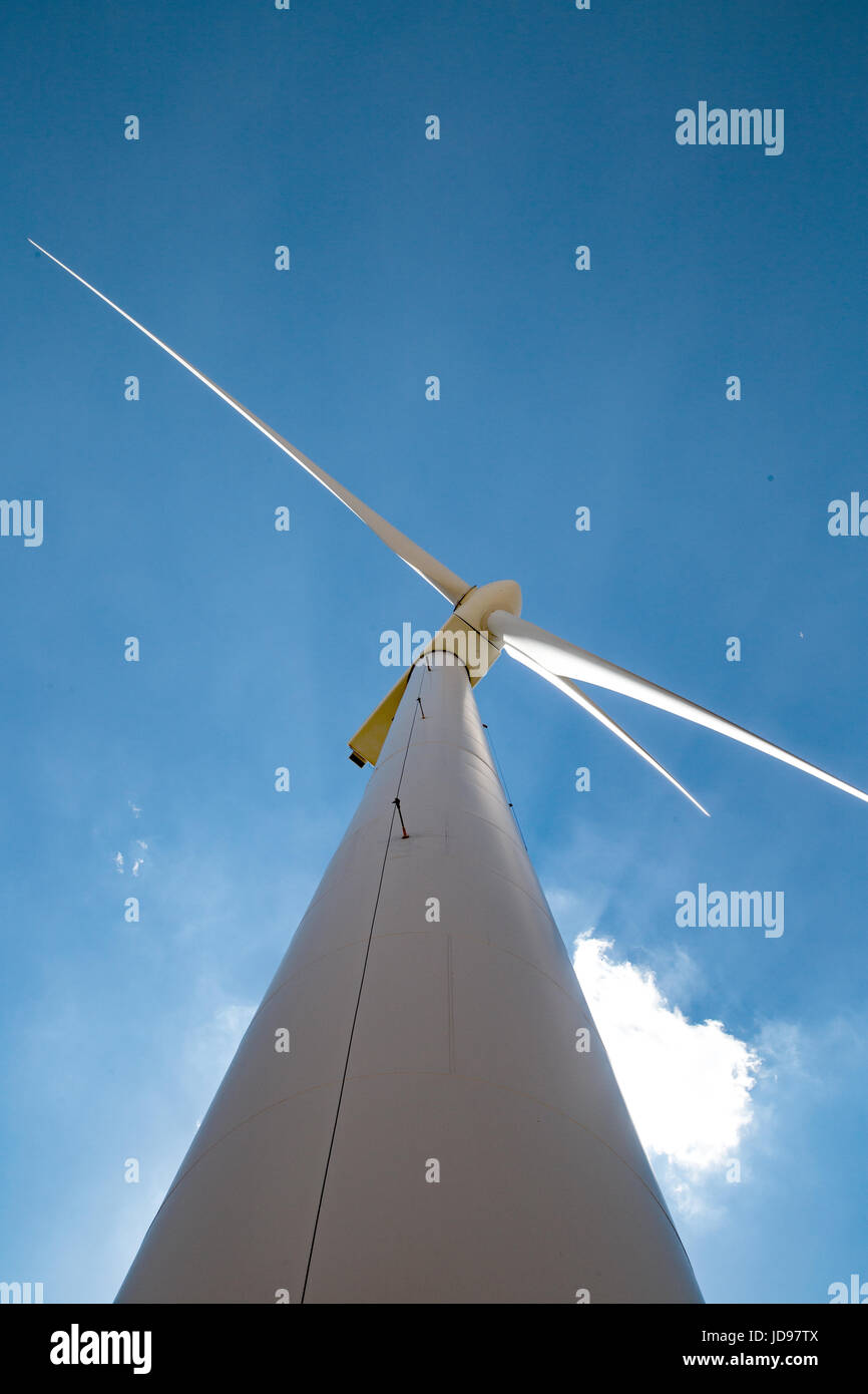Wind turbines at the American Wind Power Center in Lubbock Texas - Stock Image