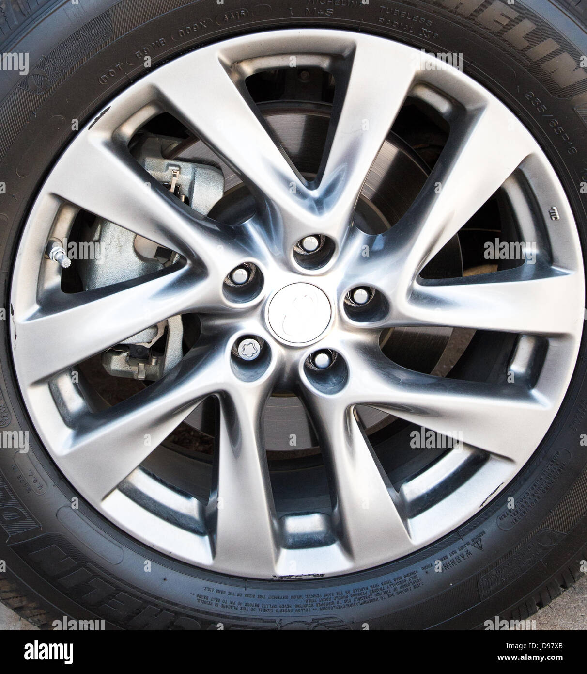 Close up of hubcap - Stock Image
