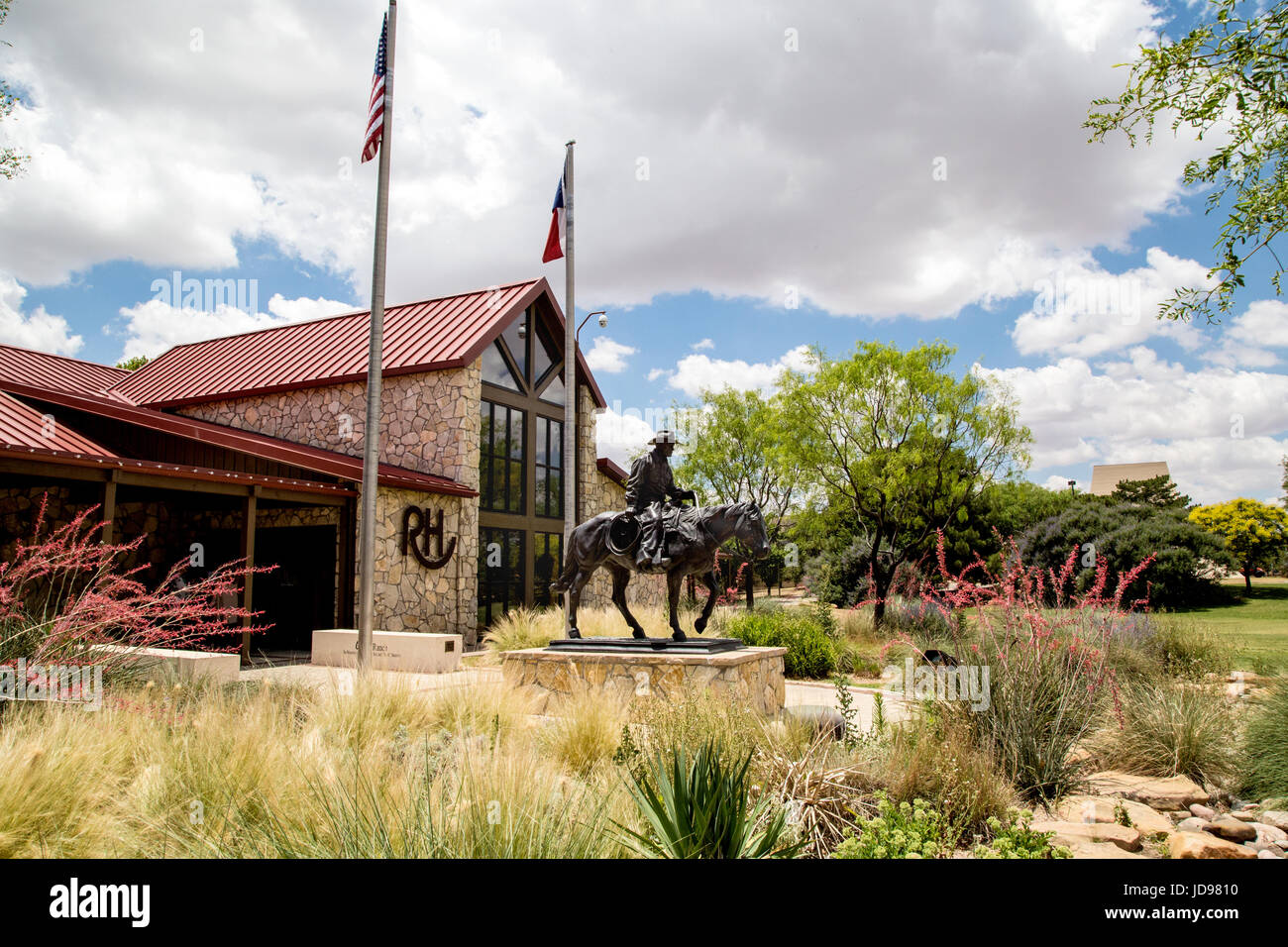National Ranching Heritage Center entrance and museum in Lubbock, Texas Stock Photo
