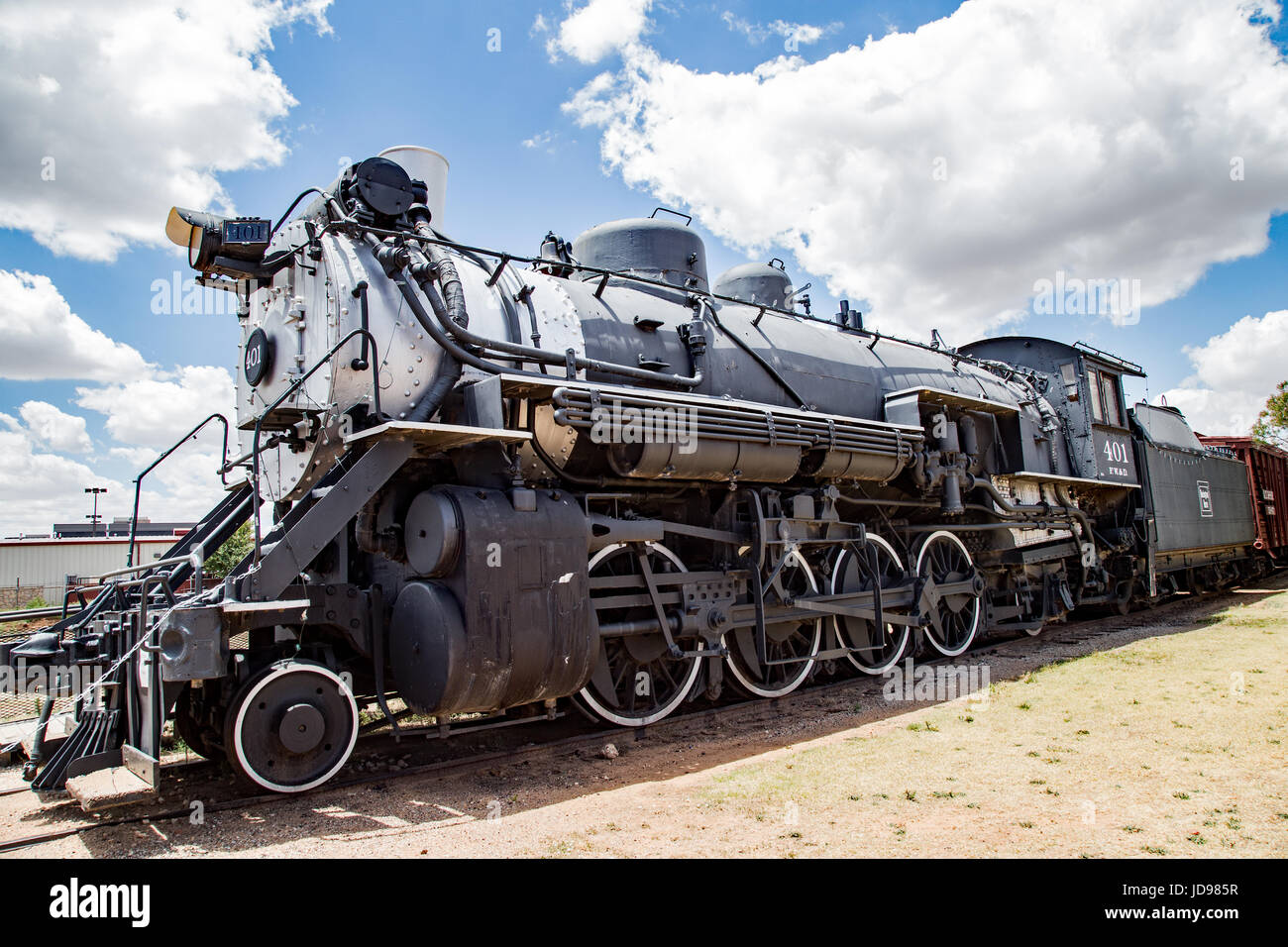 Baldwin locomotive at the National Ranching Heritage Center, Lubbock, Texas Stock Photo