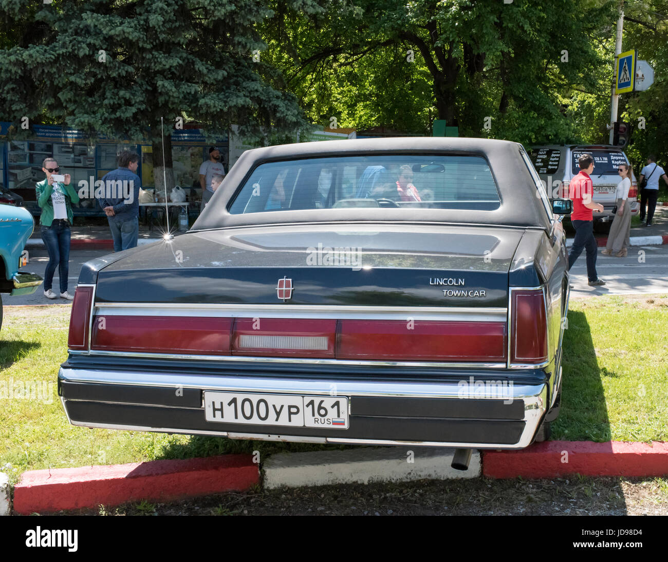 Rostov On Don Russia May 21 2017 Vintage Car Lincoln Town Car