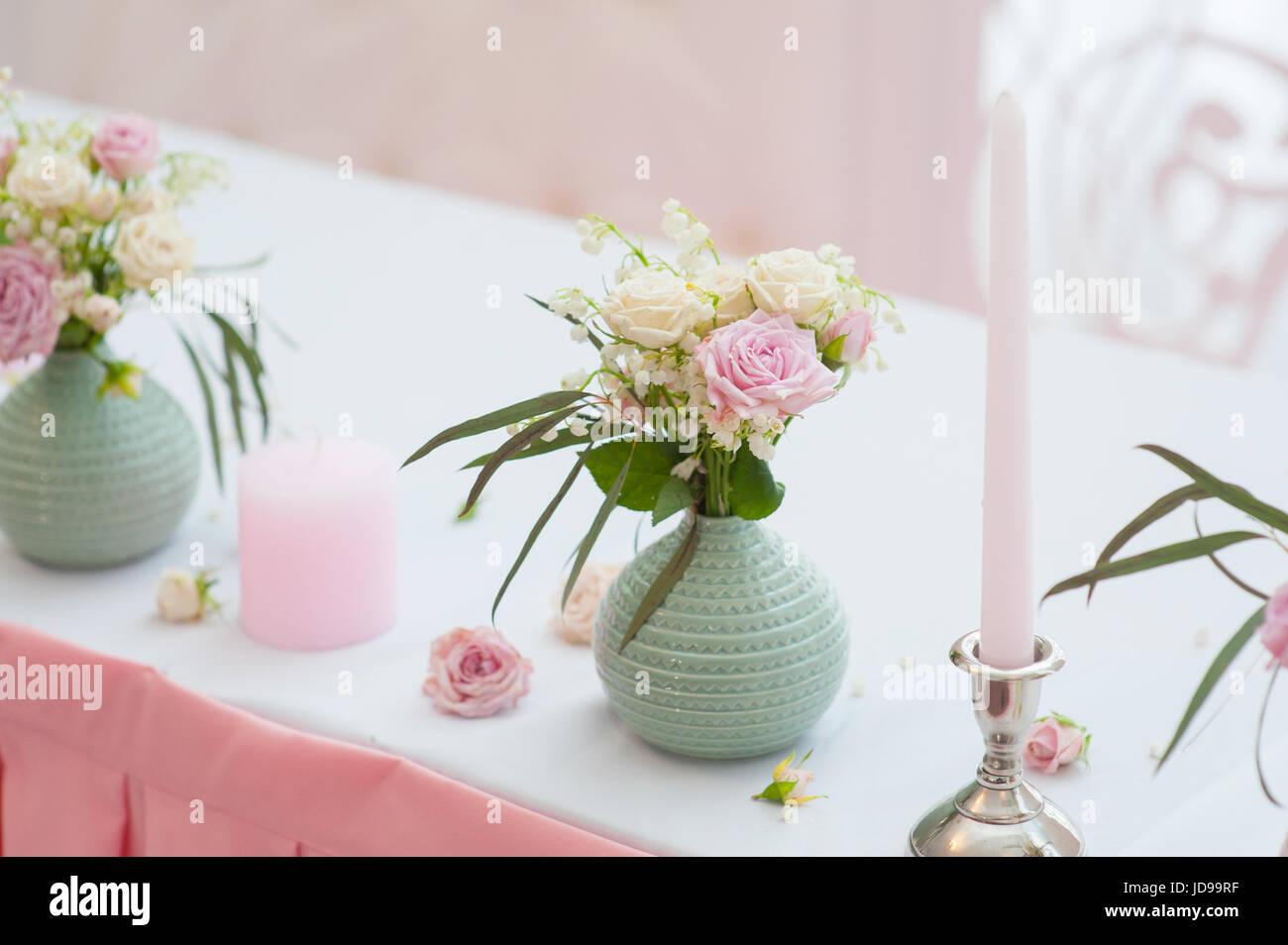 Wedding festive decor bouquet from spring flowers table layout wedding festive decor bouquet from spring flowers table layout table of newly married restaurant interior mightylinksfo