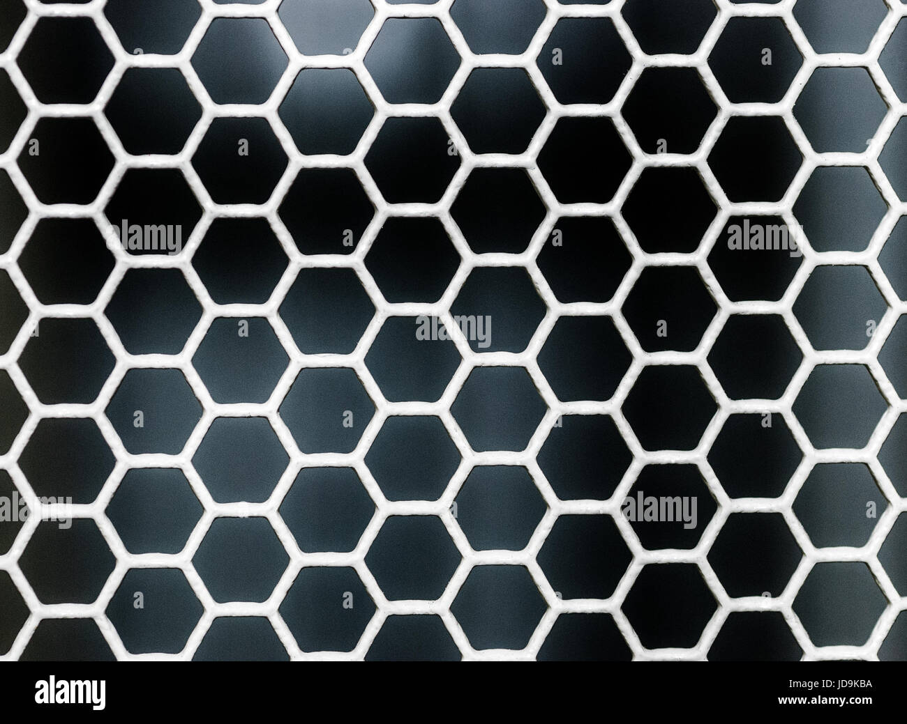 hexagon grid background texture pattern - Stock Image