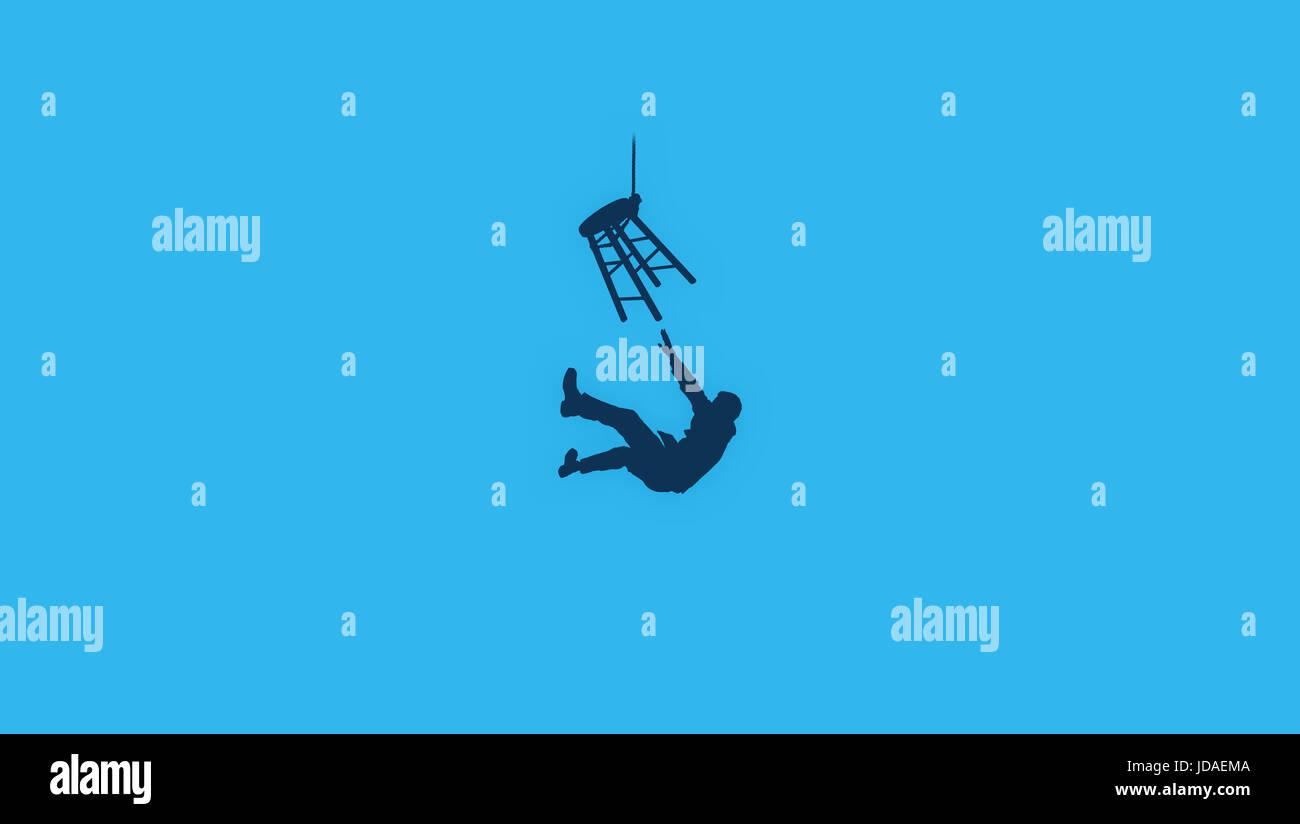 Reversed Suicide Minimalist Logo Wallpaper Design Stock