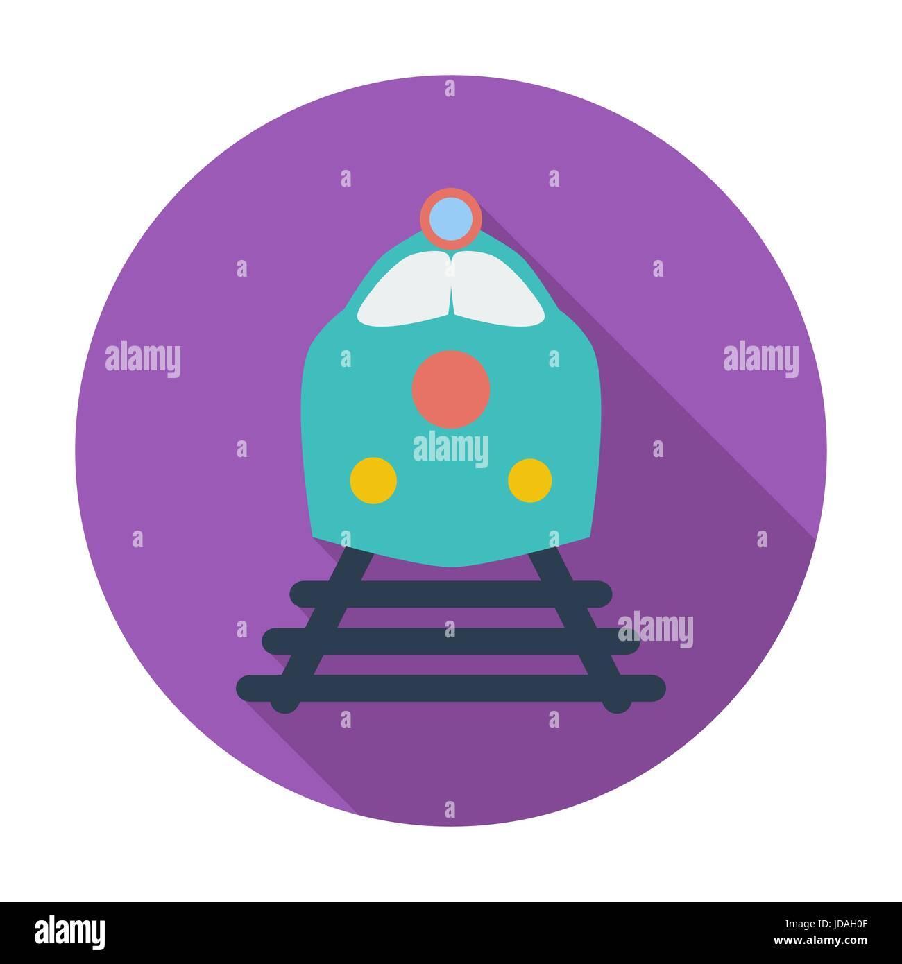 Train. Single flat color icon. Vector illustration. - Stock Vector