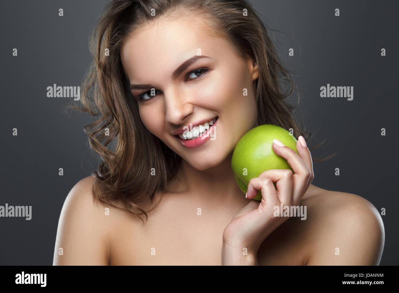Beautiful Girl Holding Fashion Beauty Magazine Stock Image: Oral B Stock Photos & Oral B Stock Images