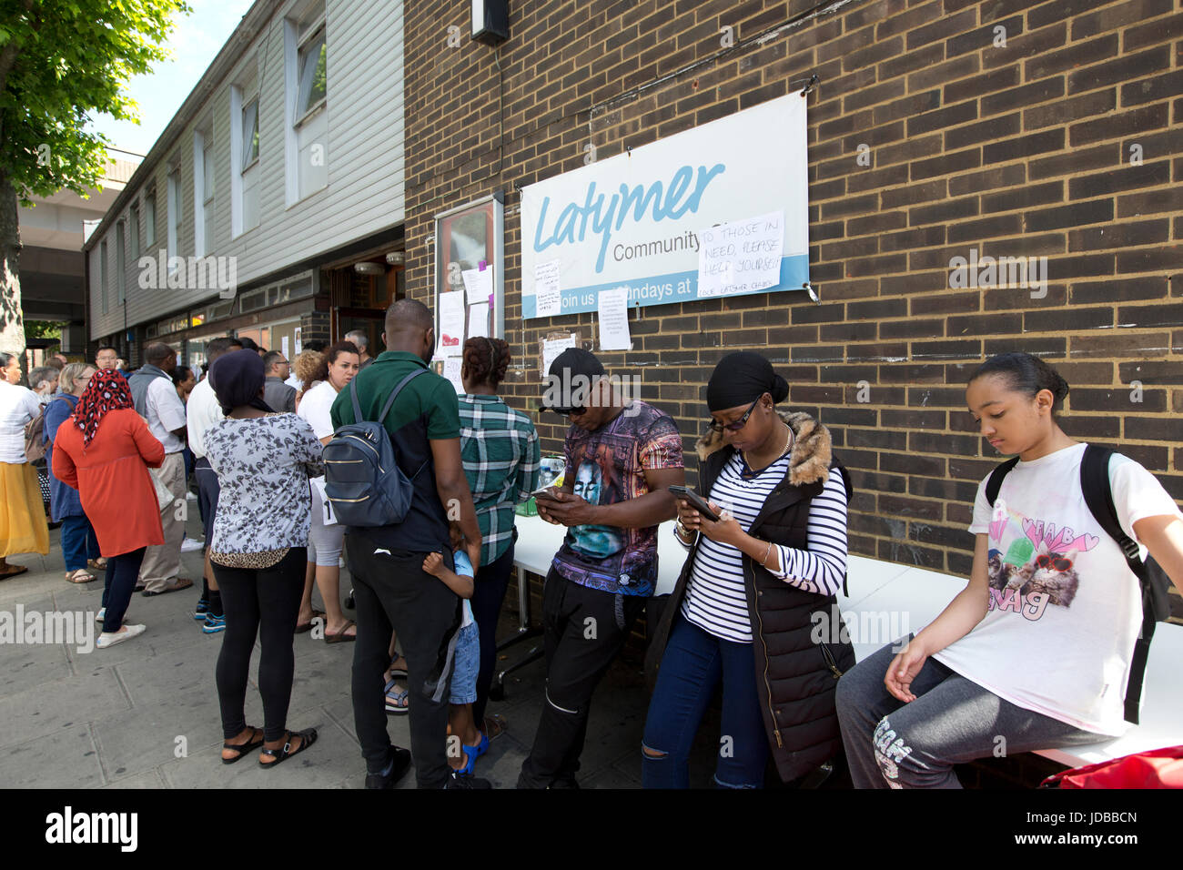 Grenfell Tower fire disaster, West London, UK - Stock Image