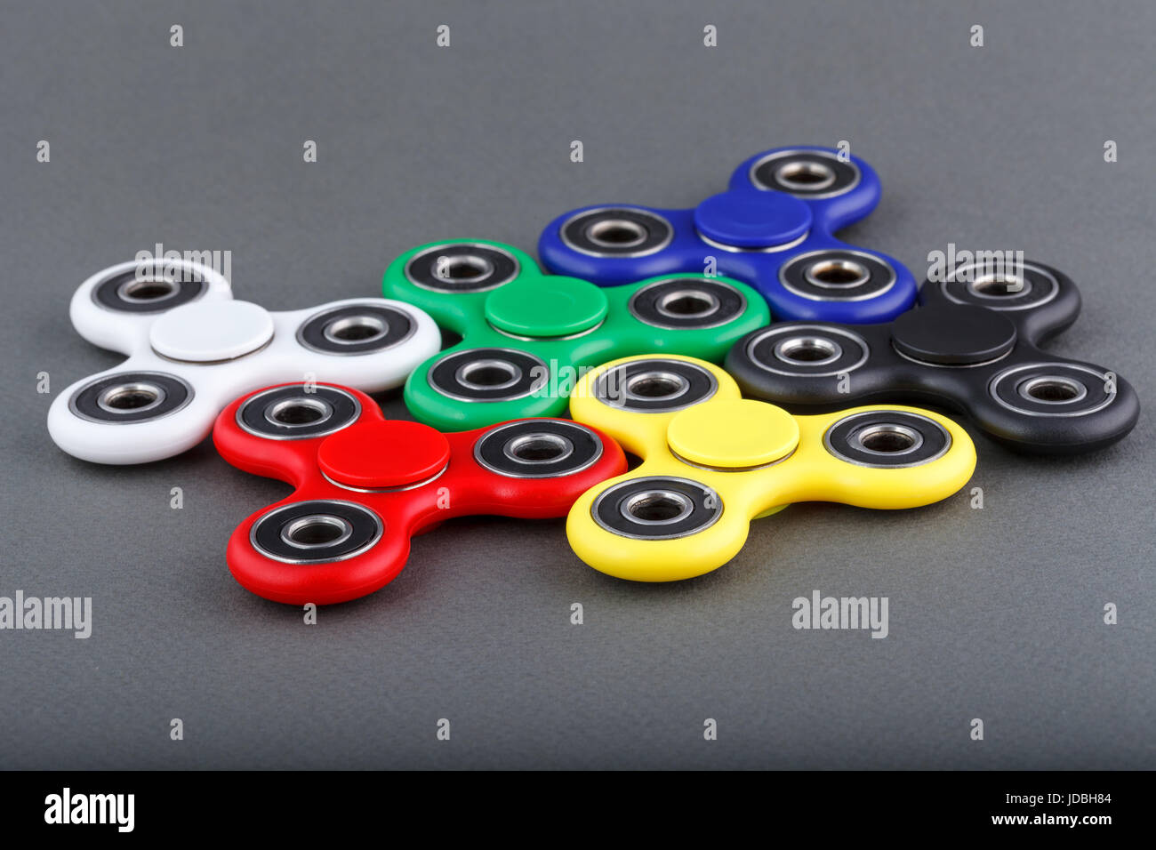 Fidget Spinner Toy Stress Reducer,Bearing Toy for ADHD EDC Hand Killing Time - Stock Image