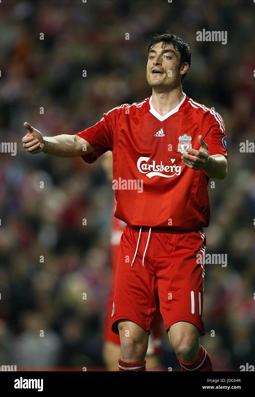 Albert Riera Liverpool Fc Anfield Liverpool England 08 April