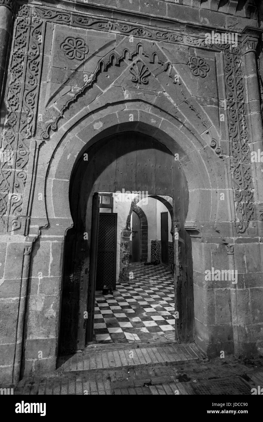 Door in a traditional building in Morocco - Stock Image