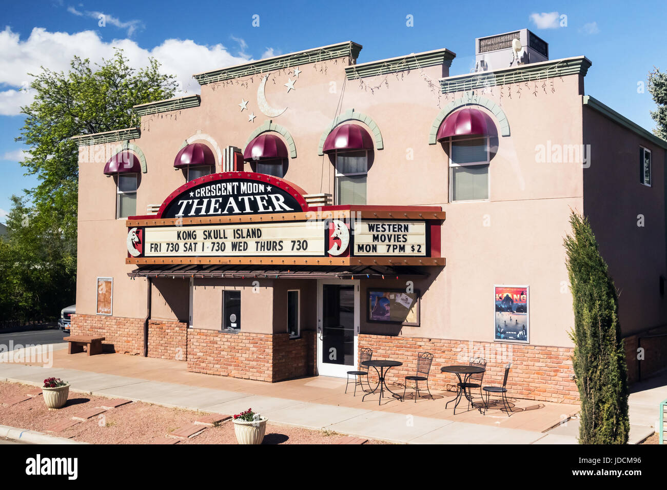 Crescent Moon Theater, plays box office movies and provides a venue for live performances in Kanab, Utah. USA - Stock Image