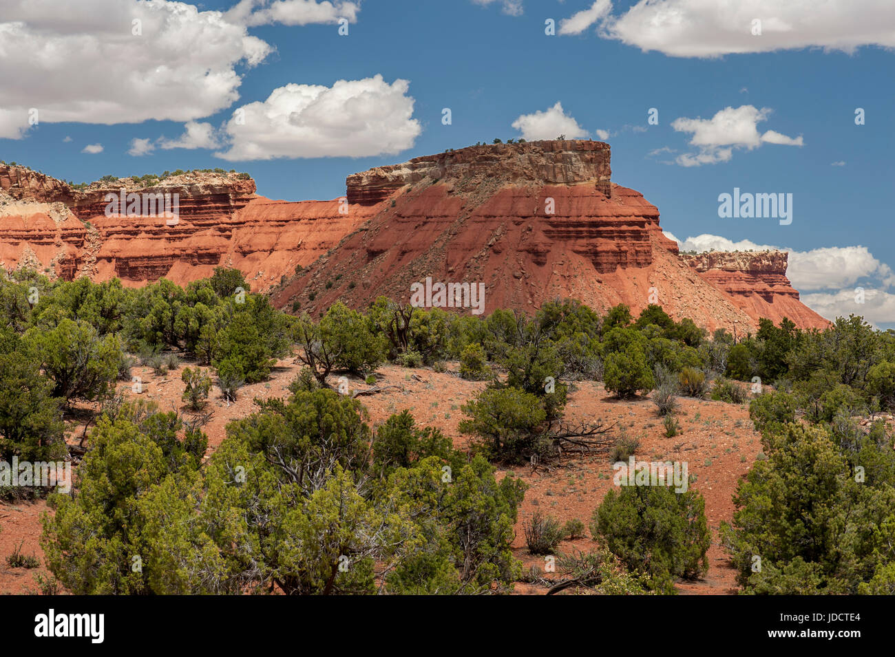 One of the views from the Burr Trail Road in the Circle Cliffs area of the Grand Staircase-Escalante National Monument. Stock Photo