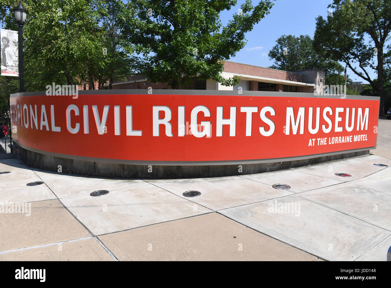 Memphis, TN, USA - June 9, 2017: The National Civil Rights Museum at the Lorraine Motel where Dr. Martin Luther King Jr. was assassinated Stock Photo