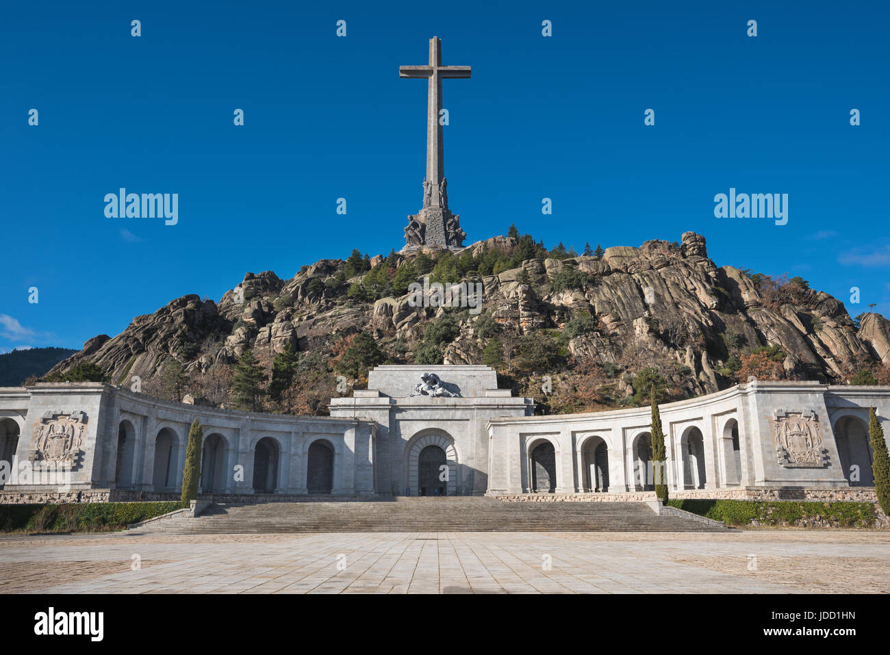 Valley of the fallen, Madrid, Spain. Stock Photo