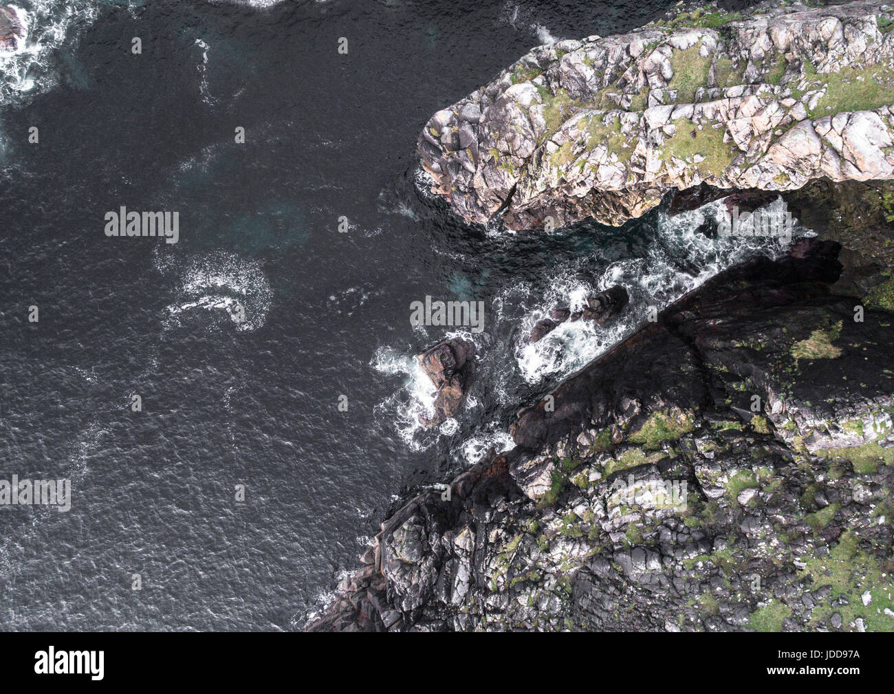Aerial view of Cliffs at Garenin, Lewis, Outer Hebrides - Stock Image